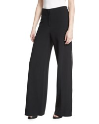 Jason Wu Wide Leg Side Zip Crepe Pants Black