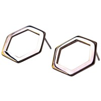 Co.Ro.Jewels Co. Ro. Jewels Hexagon Earrings Rose Gold Plated