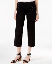 Tommy Hilfiger Brie Cropped Sailor Pants Only At Macy's Deep Black