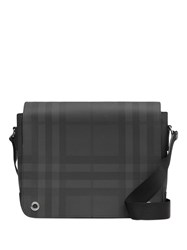 Burberry London Check And Leather Satchel Grey