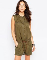 Only Utility Playsuit Khaki Green
