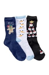 Free Press Christmas Crew Socks Pack Of 3 Multi