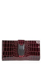 Women's Opening Ceremony 'Misha' Croc Embossed Leather Wallet