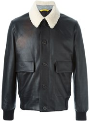 Canali Aviator Jacket Black