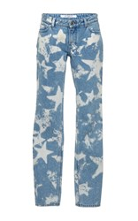 Givenchy Stars Bleached Denim Trouser Blue