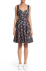 Marc Jacobs Women's Floral Print Poplin Fit And Flare Dress