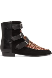 Isabel Marant Rowi Leather Leopard Print