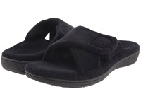 Vionic With Orthaheel Technology Relax Slipper Black Terry Women's Slippers