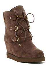Australia Luxe Collective Dudley Hidden Wedge Genuine Shearling Boot Brown