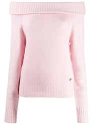 Emilio Pucci Off The Shoulder Cashmere Jumper Pink
