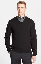 Men's Armani Collezioni Virgin Wool V Neck Sweater