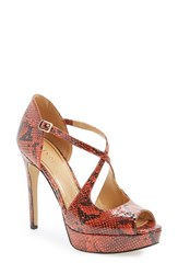 Women's Enzo Angiolini 'Abalina' Platform Pump Orange Multi