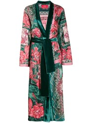 F.R.S For Restless Sleepers Floral Print Robe Coat Green