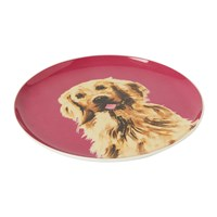 Joules Pawcasso Side Plate Purple Dog