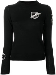Each X Other Badge Detail Crew Neck Sweater Black