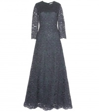 Tory Burch Floor Length Lace Dress Blue