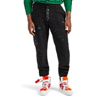 Off White C O Virgil Abloh Paint Splatter Fleece Climber Pants Black