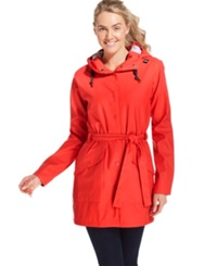 Helly Hansen Kirkwall Hooded Trench Coat Summer Red