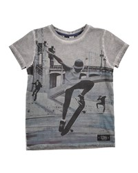 Molo Distressed Cotton Skate Tee Gray