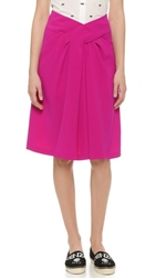 Kenzo Knee Length A Line Skirt Berry