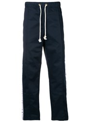 Champion Logo Trimmed Track Trousers Blue