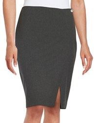Marc New York Pinstriped Pencil Skirt Black Light Grey