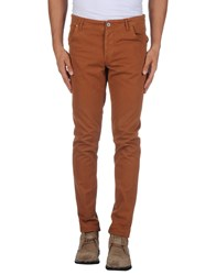 Jaggy Trousers Casual Trousers Men Brown