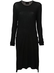 Lost And Found Ria Dunn Side Slit Tunic Black