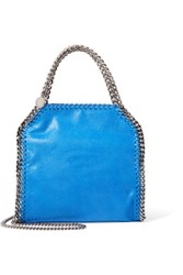 Stella Mccartney The Falabella Mini Faux Brushed Leather Shoulder Bag Blue