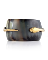 Ashley Pittman Dark Horn Snake Bangle Bracelet