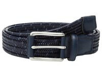Torino Leather Co. 35Mm Italian Woven Rayon Elastic Navy Blue Men's Belts Multi