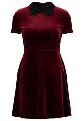 Miss Selfridge Petite Summer Dress Burgundy Dark Red
