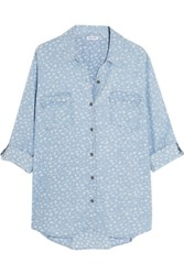 Splendid Printed Chambray Shirt Light Denim