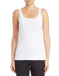 Eileen Fisher Plus Organic Cotton Tank Top White
