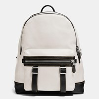 Coach Flag Backpack In Pebble Leather Soft White
