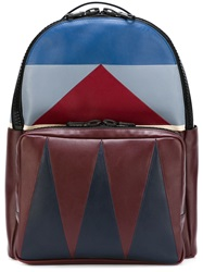 Valentino Garavani 'Patchwork' Chevron Backpack Red