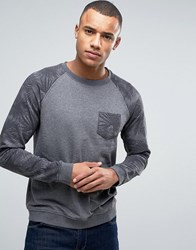 Esprit Sweatshirt With Contrast Raglan Sleeves 001 Black