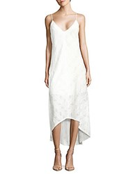 Amanda Uprichard Julia Embroidered Asymmetric Dress Ivory
