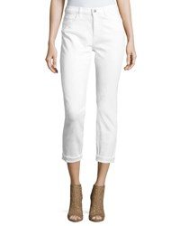 Mih Jeans Tomboy Straight Leg Cropped White
