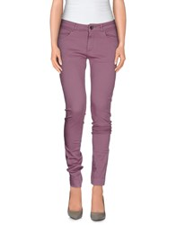Twin Set Simona Barbieri Trousers Casual Trousers Women Light Purple