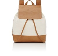 Barneys New York Women's Canvas And Leather Backpack Tan