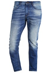 Tom Tailor Josh Straight Leg Jeans Mid Stone Wash Blue Denim