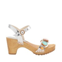 Sophia Webster Ava Gem Silver Clog