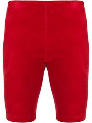 Manokhi Fitted Racing Shorts Red