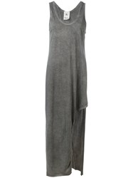 Lost And Found Rooms Slit Trim Long Dress Grey