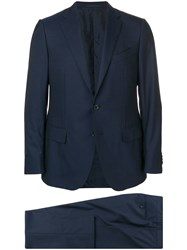 Caruso Slim Single Breasted Suit Blue