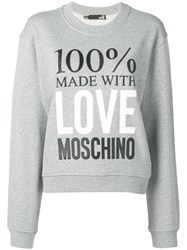Love Moschino Made With Sweatshirt Grey