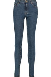 Red Valentino High Rise Skinny Jeans Dark Denim
