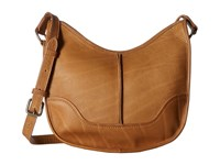 Frye Cara Saddle Beige Washed Oiled Vintage Hobo Handbags Brown