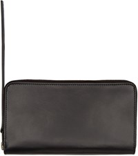 Rick Owens Black Leather Zippered Medium Wallet